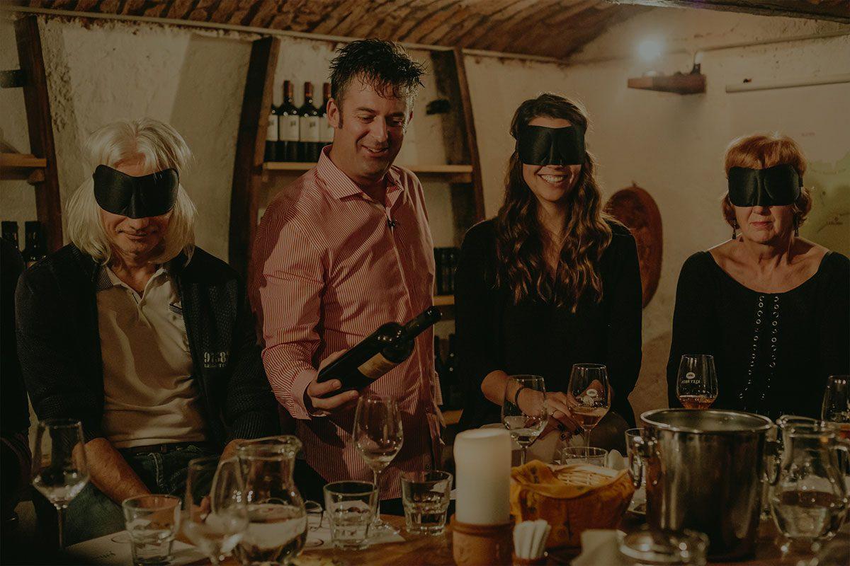Degustazione del vino di Bled